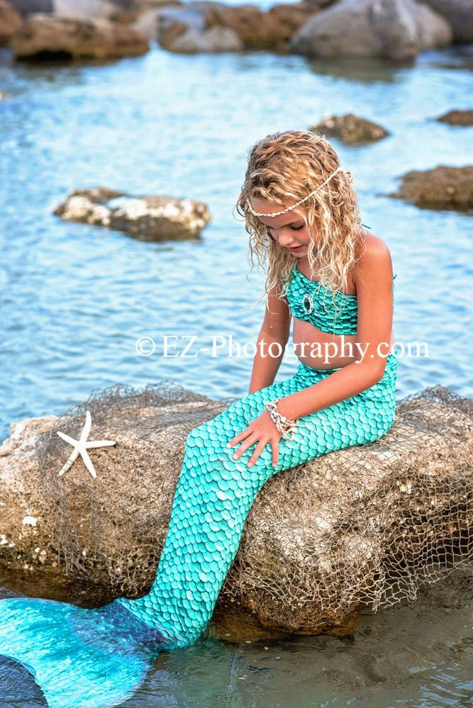 mermaid portraits cocoa beach fl